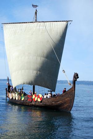 Le Drakkar Dreknor en pleine navigation